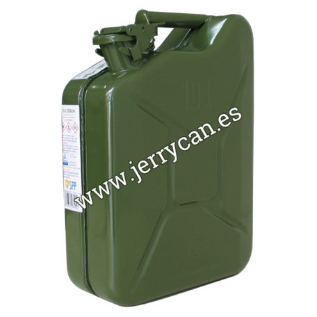 Jerry Can 10 Litros Acero Verde