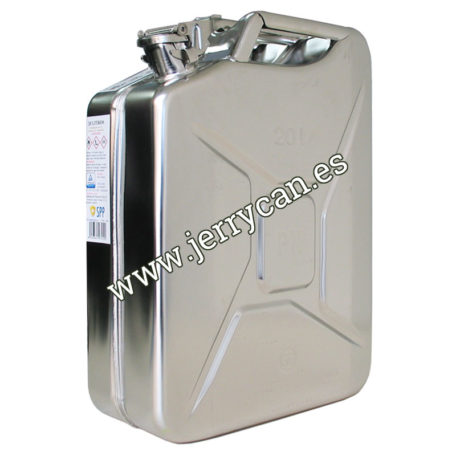 Jerry Can 20 Litros de Acero Inoxidable