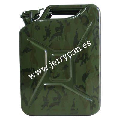 Jerry Can 20 Litros Camuflaje Militar