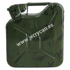 Jerry Can 5 Litros Camuflaje Militar