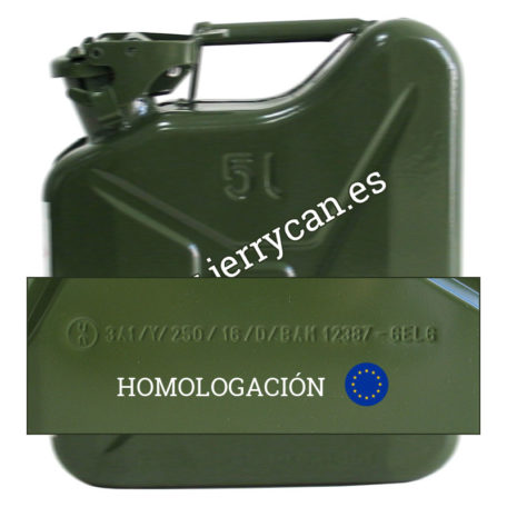 Jerry Can 5L Acero Verde