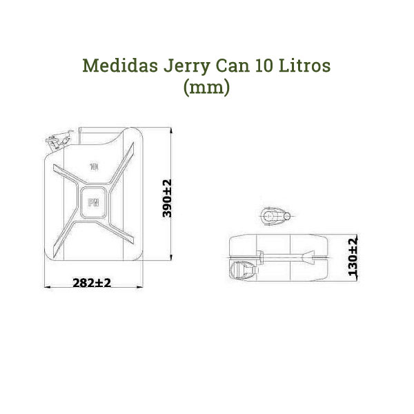 Medidas jerry can 10 litros