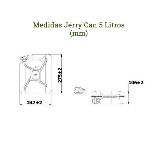 Medidas jerry can 5 litros